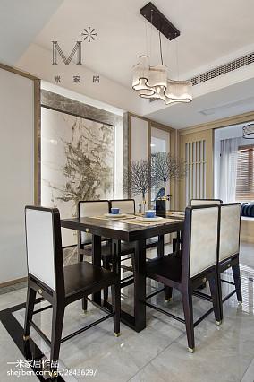 热门107平米三居餐厅中式装饰图片欣赏三居中式现代家装装修案例效果图