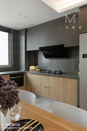 平米三居厨房北欧实景图片三居北欧极简家装装修案例效果图