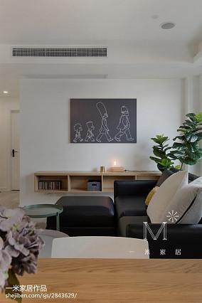 2018精选107平米三居客厅北欧装修图片三居北欧极简家装装修案例效果图