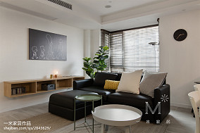 精美102平米三居客厅北欧装修欣赏图片大全三居北欧极简家装装修案例效果图