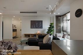 2018面积100平北欧三居客厅效果图片欣赏三居北欧极简家装装修案例效果图