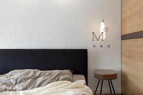 面积108平北欧三居卧室装修设计效果图片三居北欧极简家装装修案例效果图