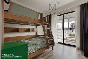 精选面积105平北欧三居儿童房实景图片三居北欧极简家装装修案例效果图