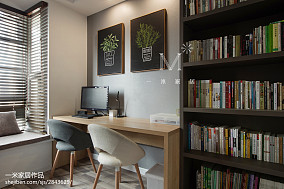 120m²北欧风格书房设计图三居北欧极简家装装修案例效果图