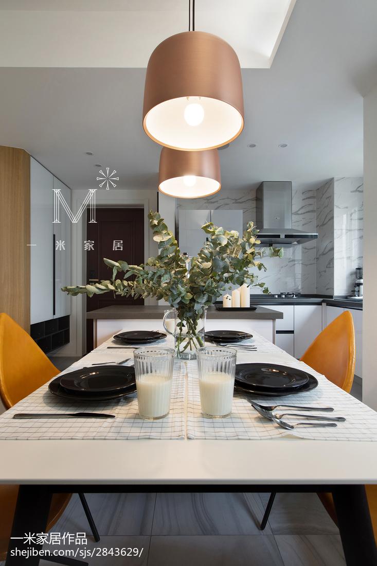 精选94平米三居餐厅现代装修设计效果图片大全厨房