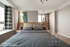 精美三居卧室北欧装饰图片欣赏三居北欧极简家装装修案例效果图