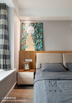 精美北欧三居卧室效果图片大全三居北欧极简家装装修案例效果图