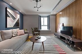 107m²现代北欧客厅设计图片三居北欧极简家装装修案例效果图