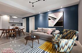 2018精选107平米三居客厅北欧装修效果图片欣赏三居北欧极简家装装修案例效果图