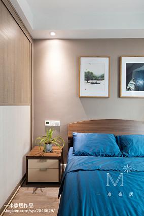 热门面积95平北欧三居卧室装修设计效果图片欣赏三居北欧极简家装装修案例效果图