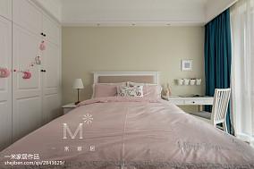 热门面积100平美式三居儿童房效果图片151-200m²三居美式经典家装装修案例效果图