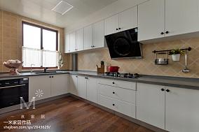 精选美式三居厨房装修实景图片欣赏151-200m²三居美式经典家装装修案例效果图