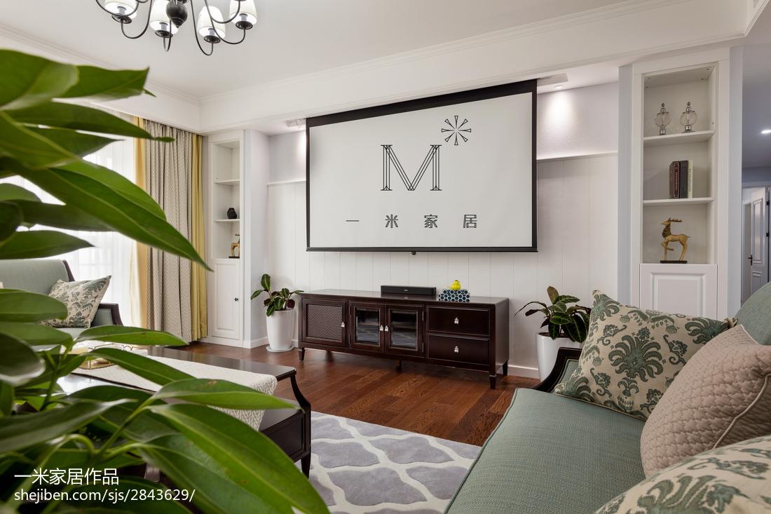 温馨190平美式三居设计美图151-200m²三居美式经典家装装修案例效果图
