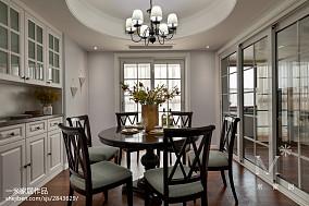 精选大小90平美式三居餐厅实景图151-200m²三居美式经典家装装修案例效果图