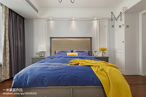 平方三居卧室美式实景图片欣赏151-200m²三居美式经典家装装修案例效果图