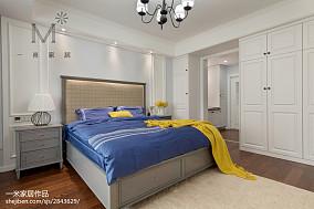 大气95平美式三居卧室装修图片151-200m²三居美式经典家装装修案例效果图