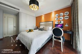 轻奢129平美式三居图片大全三居美式经典家装装修案例效果图