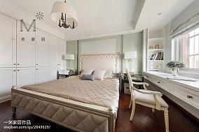 平米三居卧室美式装修实景图片三居美式经典家装装修案例效果图