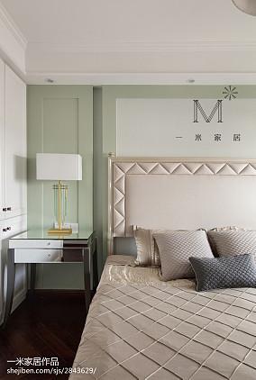 简洁98平美式三居装修效果图家装装修案例效果图