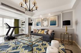 138m² 现代美式客厅设计图