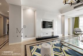 明亮114平美式三居装修图三居美式经典家装装修案例效果图