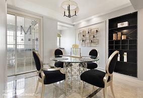 精美92平米三居餐厅美式装修效果图片欣赏三居美式经典家装装修案例效果图