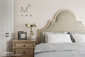 精美99平米三居卧室美式实景图片家装装修案例效果图