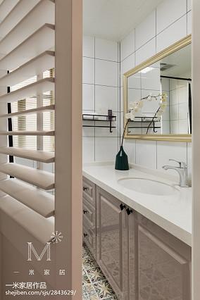 137m²美式卫浴设计图家装装修案例效果图