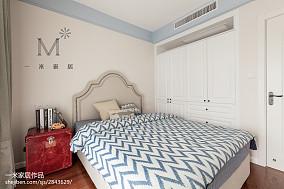 精美91平米三居儿童房美式装修效果图片大全三居美式经典家装装修案例效果图