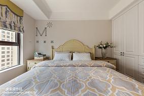 精选面积100平美式三居卧室实景图片大全三居美式经典家装装修案例效果图
