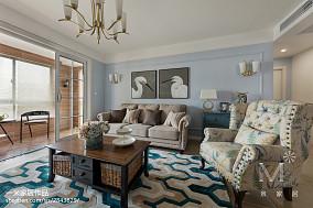 137m²美式客厅设计图三居美式经典家装装修案例效果图