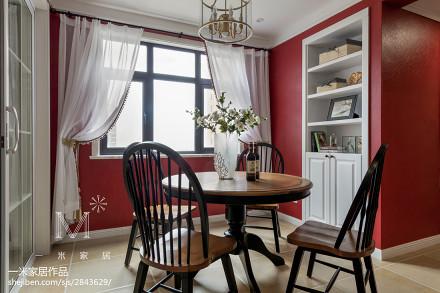 精美面积92平美式三居餐厅欣赏图片大全厨房
