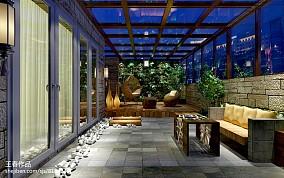 精美面积99平地中海三居阳台装修实景图片