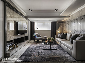 暗色系现代客厅设计图