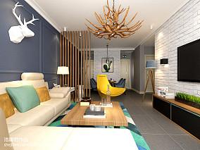 精选86平米二居客厅北欧欣赏图片