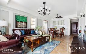 大气99平美式三居客厅设计效果图三居美式经典家装装修案例效果图