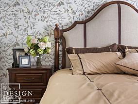 2018精选面积92平美式三居卧室装修图片