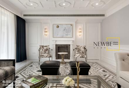 热门90平方三居客厅美式装修设计效果图片客厅