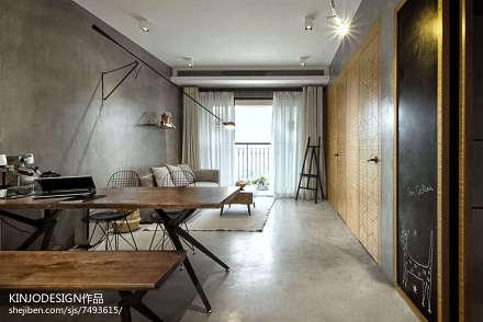 201885平方二居客厅现代实景图二居现代简约家装装修案例效果图