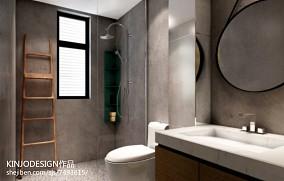 面积70平现代二居卫生间装修效果图