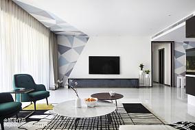 灰色现代背景墙设计图