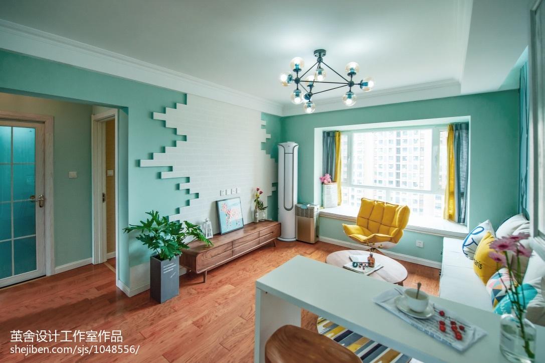 热门107平米三居客厅北欧装修欣赏图片大全客厅
