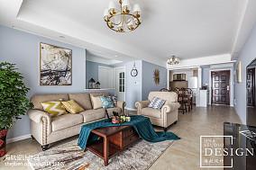 2018精选面积73平美式二居客厅欣赏图片大全