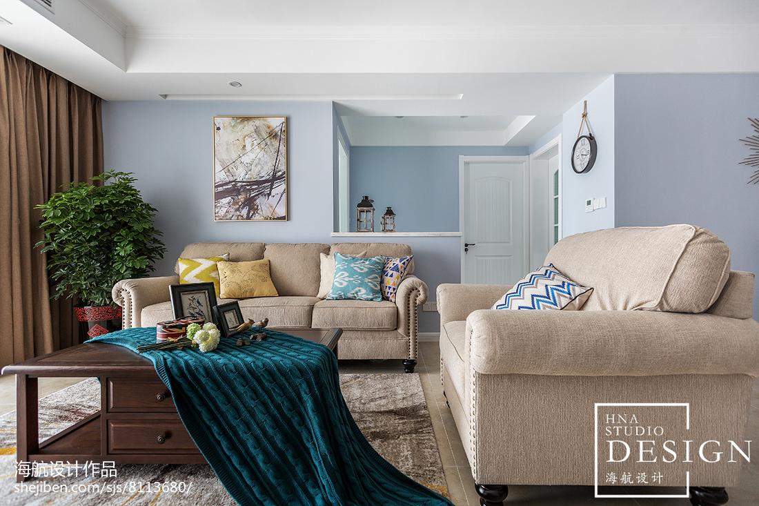 110㎡美式客厅沙发设计图客厅美式经典客厅设计图片赏析