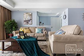 110㎡ 美式客厅沙发设计图