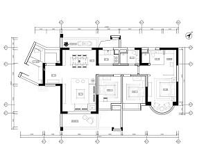 中山东方名都项目VII样板间中式现代家装装修案例效果图