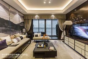 热门中式客厅装修欣赏图样板间中式现代家装装修案例效果图