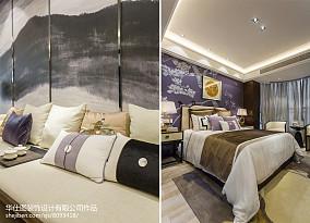 2018卧室中式装修实景图片样板间中式现代家装装修案例效果图