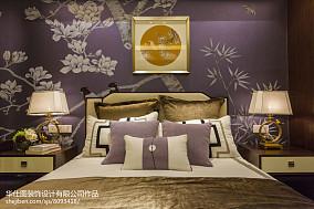 卧室中式装修实景图片大全样板间中式现代家装装修案例效果图