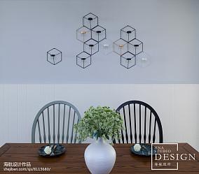 201892平米三居餐厅美式效果图
